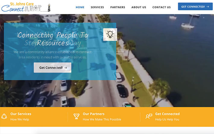 Jacksonville Web Design Case Study on St. Johns Care Connect